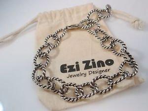 Ezi zino oval Oxide sterling silver 925 unisex Bracelet