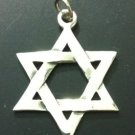 OLD MODEL STAR OF DAVID FLOWERING JEWISH PENDANT SILVER CLASSIC Judaism ISRAEL
