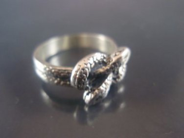 Sterling Silver Ring 925 Rolling Twisted Two Snakes Ring