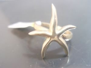 Solid Sterling Silver 925 Starfish summer sea love Ring star