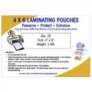 Photo or Video Card Small Laminating Pouches 5 MIL (25 Pack)