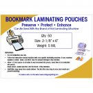 Bookmark Small Laminating Pouches 5 MIL (50 Pack)