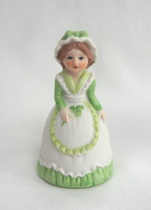 Porcelain Lady Bell JSNY Jeffrey Snyder New York Vintage 70's