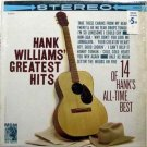 Hank Williams - Greatest Hits LP – MGM – Your Cheating Heart & More
