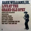 Hank Williams, Sr. - Live at the Grand Ole Opry LP - 1976 Sealed