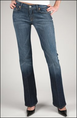 7 FOR ALL MANKIND STRETCH BOOTCUT IN NEW YORK DARK