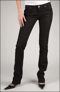 HUDSON SKINNY LEG JEAN LONG LENGTH IN JET