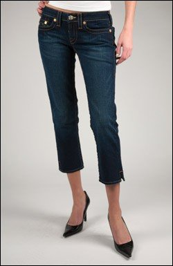TRUE RELIGION KATE ANKLE JEAN IN DARK PONY EXPRESS
