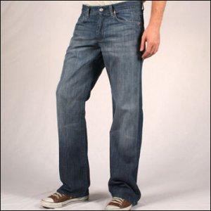 7 FOR ALL MANKIND RELAXED 7 OZ. DENIM IN ACAPULCO
