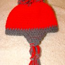 kids scarlet and grey hat