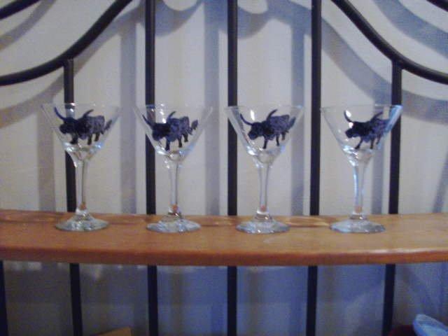 Longhorn Martini Glasses