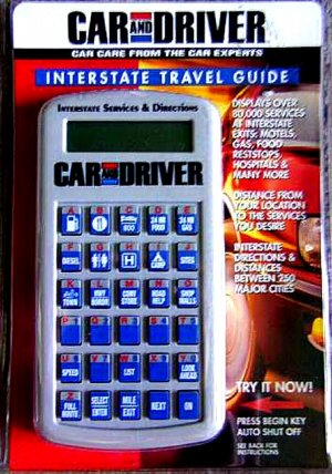 Car and Driver Digital Travel Guide--New in Package!