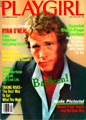 PLAYGIRL Magazine--April 1984--Ryan O'Neal Cover--Centerfold Richard Alan--Nude Blondes!
