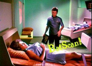 STAR TREK Original Film Slide AND Color 5x7 Pic#93 1968--Uhura & McCoy--Sickbay