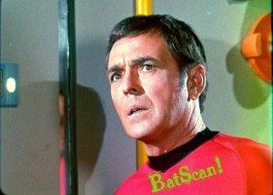 STAR TREK Original Film Slide AND Color 5x7 Pic#97 1968--Scotty Looking Worried!