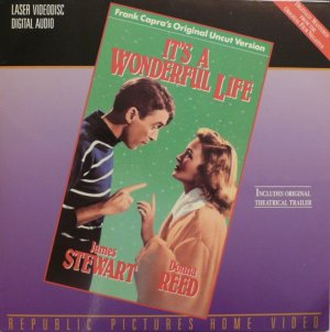 IT'S A WONDERFUL LIFE Laser Disc (1946)...2-Disc Uncut Version...James Stewart, Donna Reed