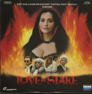 LOVE AT STAKE Laser Disc (1987)...Like New...Barbara Carrera, Patrick Cassidy