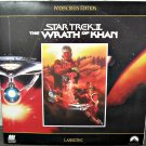 STAR TREK II: THE WRATH OF KAHN Laser Disc (1982)...Like New...Shatner, Nimoy, Montalban!!!