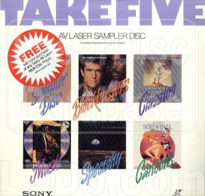 TAKE FIVE AV LASER SAMPLER DISC (1990)...SEALED!!  CLASSICS, MUSIC, CARTOONS & MORE!!