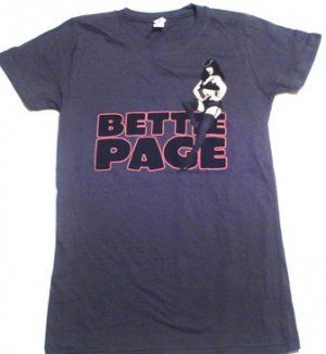 Bettie Page Sexy Logo Girly Tee Size Large