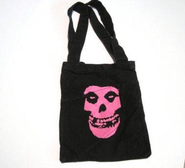 Misfits Pink Skull Logo Tote Bag
