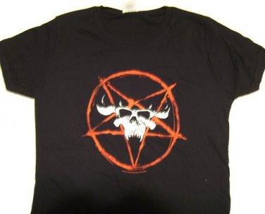 Danzig Pentagram Skull Girly Tee Size Small