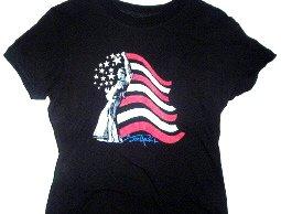 Hendrix Flag Babydoll Tee Size Large