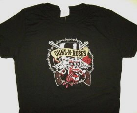 Guns n Roses Dice Eyes Girly Tee Size Large