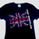 Beatles UK Invasion Girly Tee Size Medium