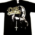 Ozzy Gold Cross Tee Size Large