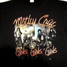 Motley Crue Girls Girls Black Tee Size Large