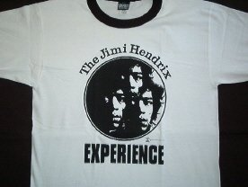 Jimi Hendrix 3 Faces White Ringer Tee Size X-Large