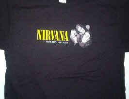 Nirvana Lights Out Tee Size Small