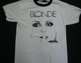 Blondie White Ringer Tee Size Large