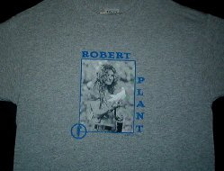 Robert Plant Gray Dove Tee Size large