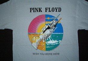 Pink Floyd Handshake Silver Tee Size Medium