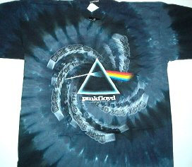 Pink Floyd Spiral Drk Side T Dye Tee Size Large