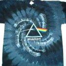 Pink Floyd Spiral Drk Side T-dye Tee Size Large