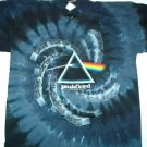 Pink Floyd Spiral Drk Side T-dye Tee Size X-Large