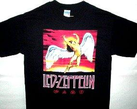 Zeppelin Swan Song Icarus-Runes Tee Size Medium