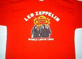 Led Zeppelin Tangerine Tee Size X-Large
