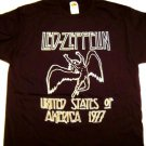 Led Zeppelin 77 Tour Dates Tee Size Small
