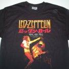 Led Zeppelin Rock n Roll Japan Tee Size Medium
