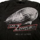 Led Zeppelin Blimp Swan Song 77 Tour Tshirt Size Large