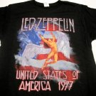 Led Zeppelin USA America 77 Tour Swan Song Tshirt Size Large