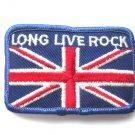Long Live Rock Union Jack Flag Patch