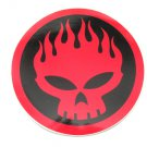 The Offspring Red Skull Round Sticker