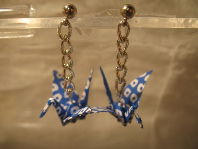 Origami Crane Earring #3