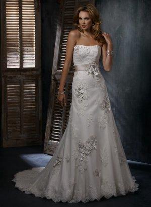 swarovski crystals lace wedding dress 2011 EC27