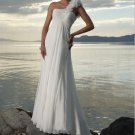 one shoulder beach wedding dress 2011 EC28